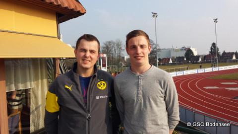 Kasse Thomas Großmann und neuer Leiter Felix Pfau