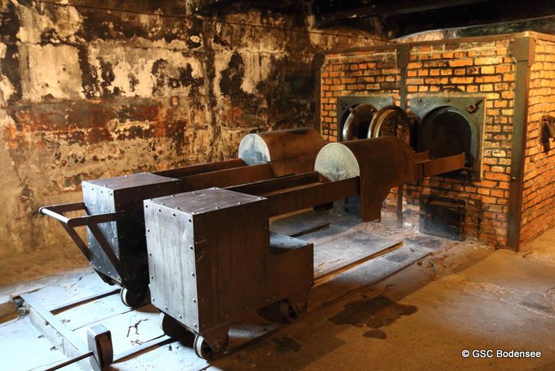 Krematorium I (hier wurde die Leichen ins Ofen verbrannt)