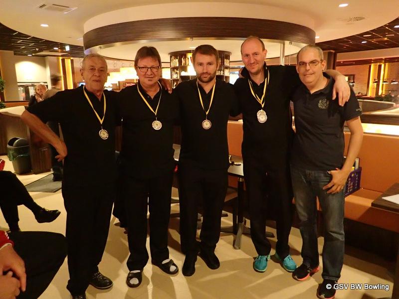 Ehrung Herren Trio 3.Platz GSKg Mannheim