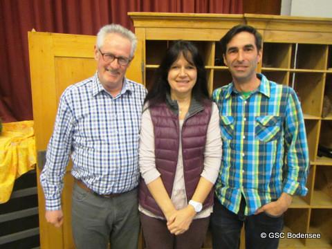 1.Revisor Gebhard Kessler, Kassiererin Astrid Leupolz, 2.Revisor Patrick Kleiner
