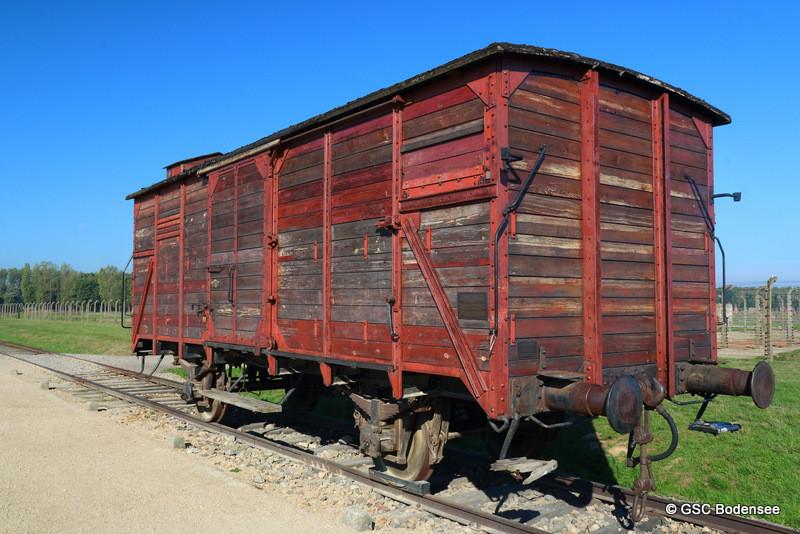 Ein Wagon für den Transport der Gefangene