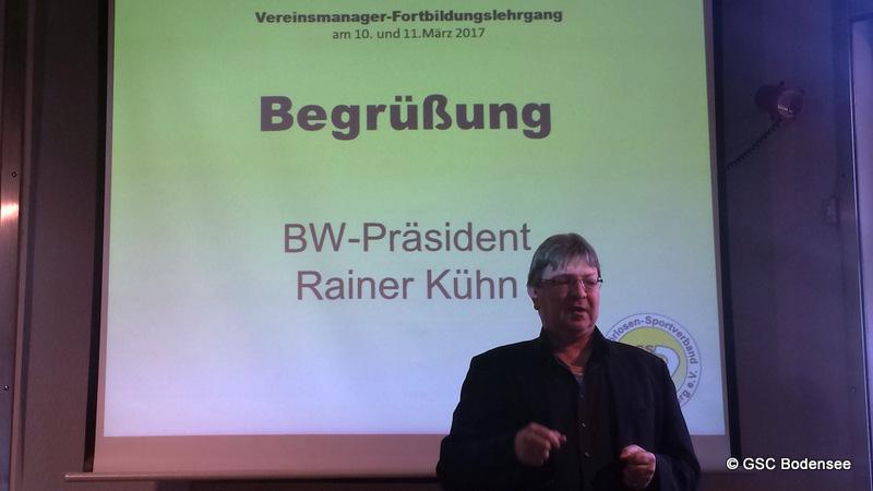 1.Präsident GSV BW Rainer Kühn