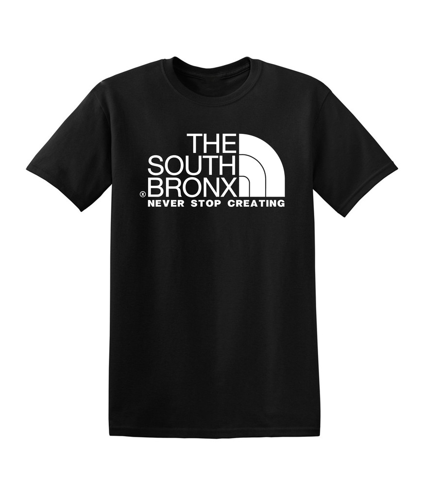Never stop creating t shirt from the bronx the 1 for T shirt printing bronx