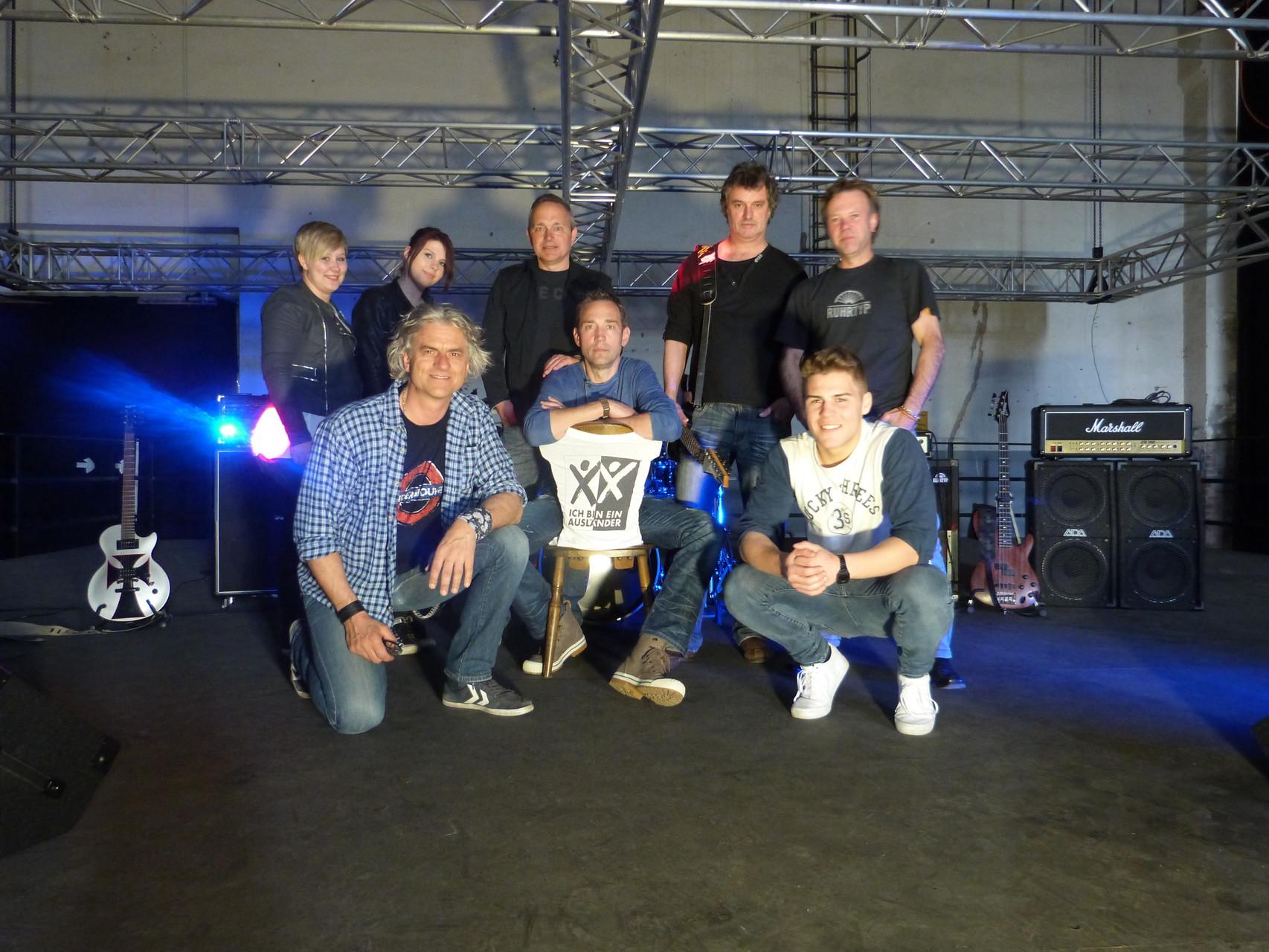 """Band mit """"Drehteam"""" des Max-Born-Berufskolleg"""