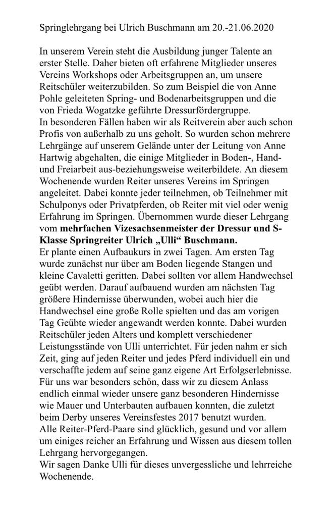 Bericht von Linda Liebelt