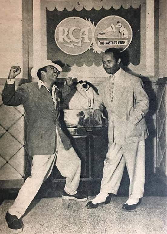 Cascarita y Pérez Prado, en la Víctor - 1946.