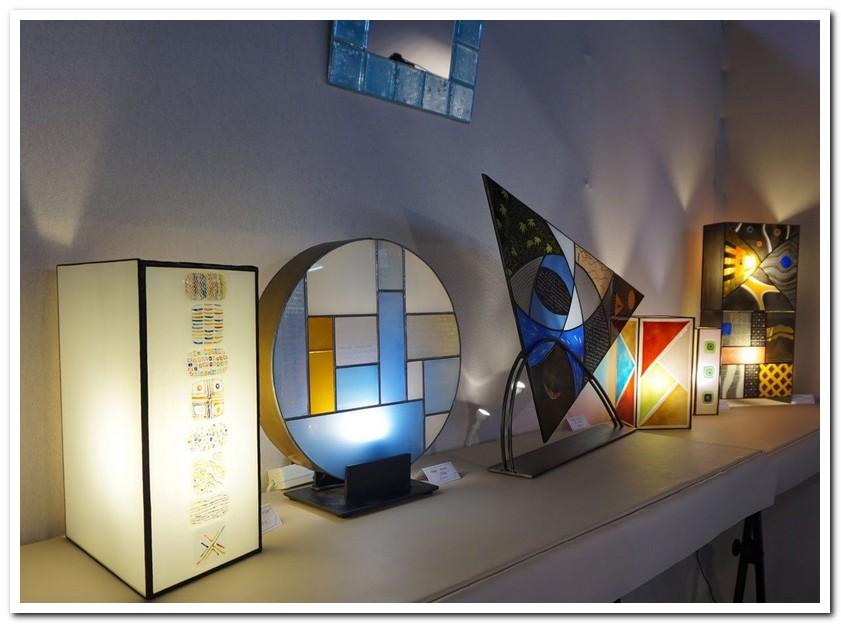 Série de luminaires en verre
