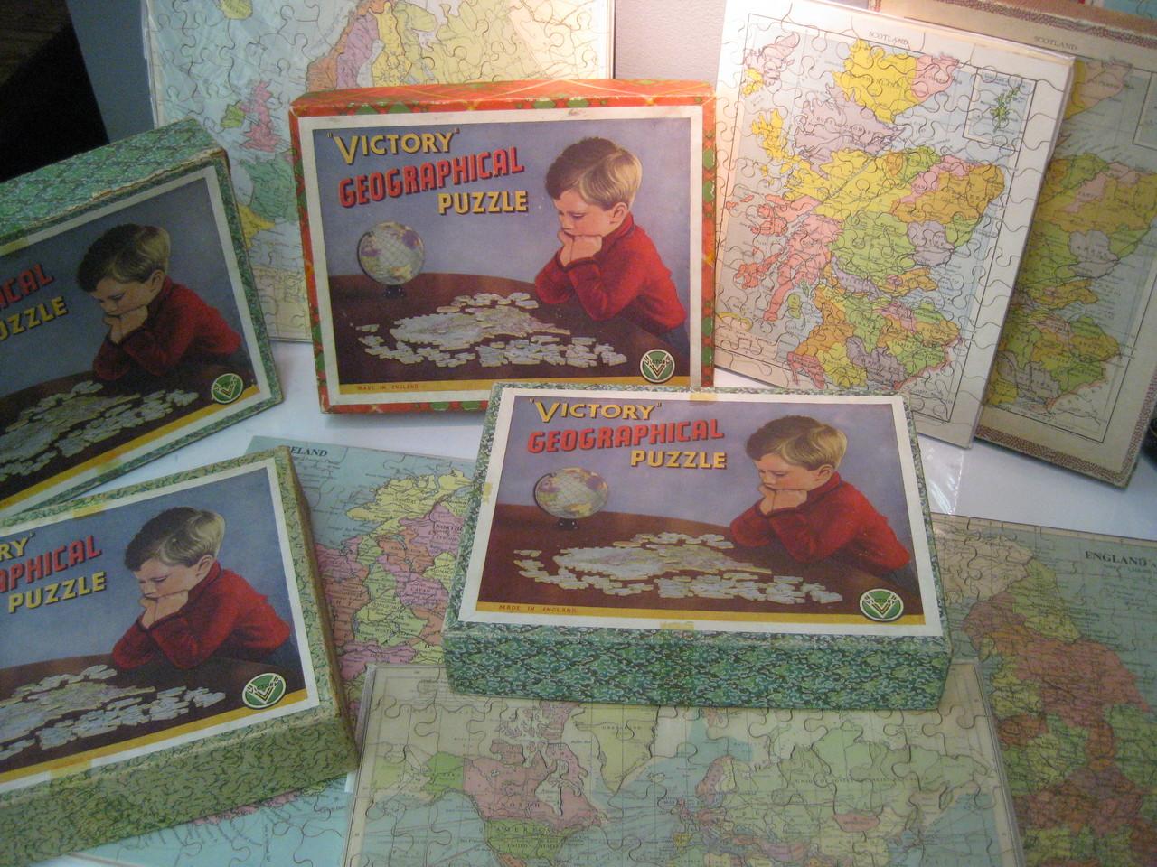 puzzles de geographie années 50