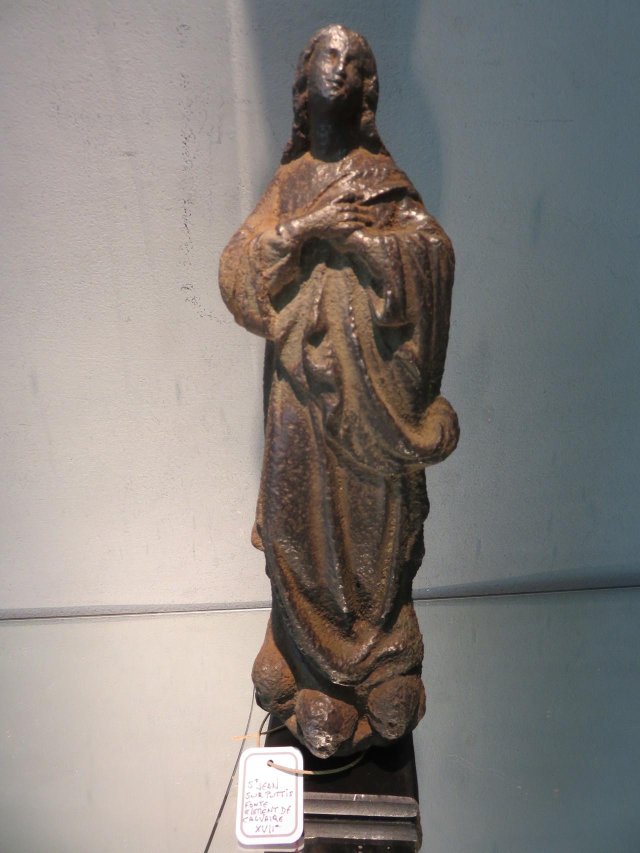 St Jean en fonte element de calvaire XVIIe