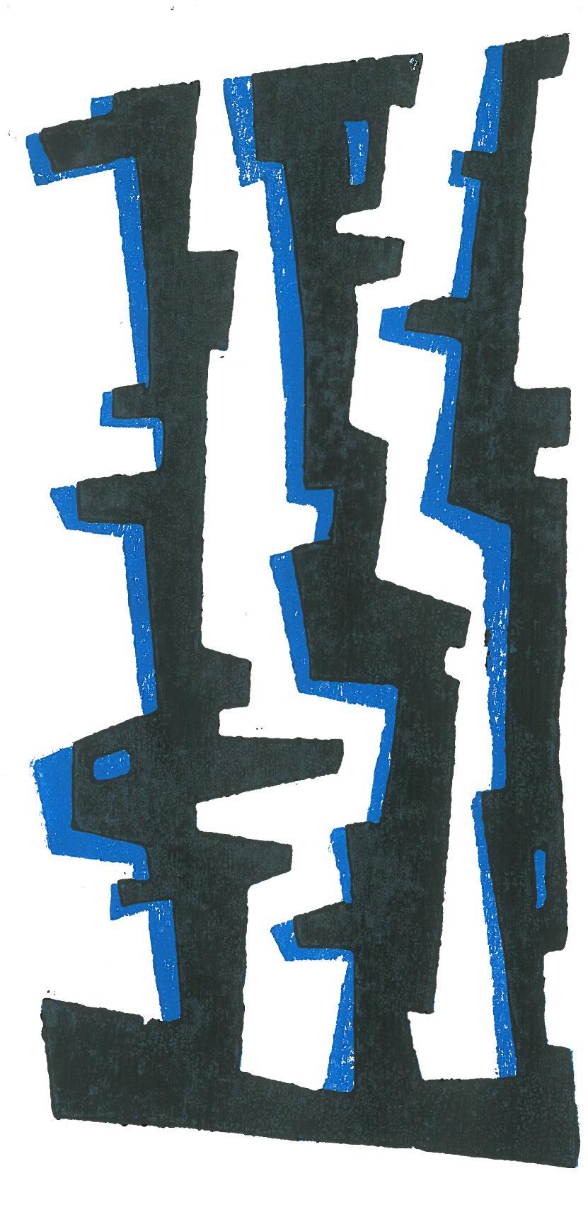Blaulicht im schwarzen Wald
