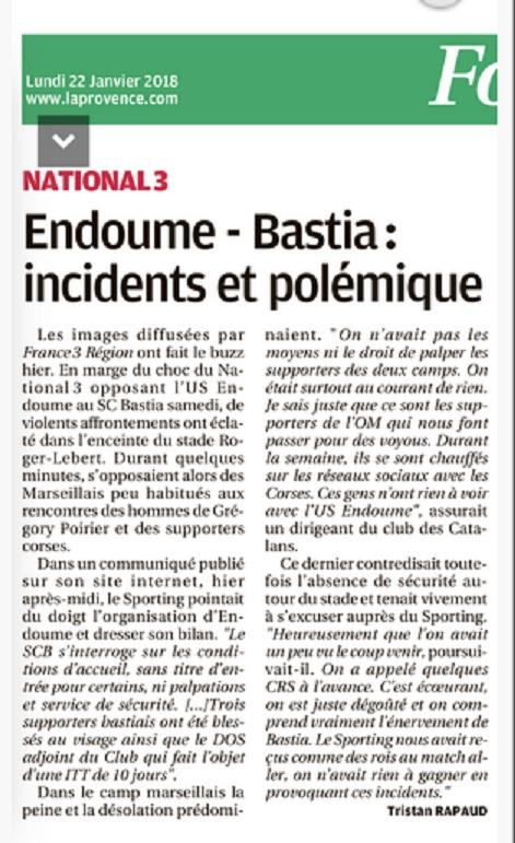 Presse locale Marseillaise