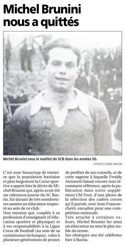 Michel BRUNINI  est décédé le 18 février 2016