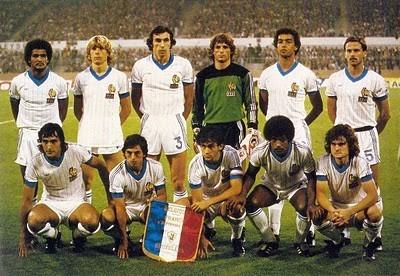 La seule sélection de P.Hiard face à la Belgique  le 9/09/81 avec 3 anciens bastiais, Moizan, Larios et Zimako ...
