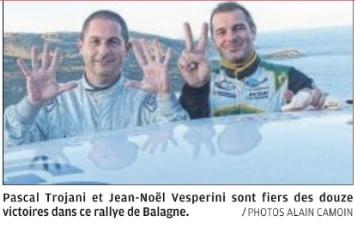 12 pour Pascal Trojani et 5 au crédit de Jean Noel Vesperini