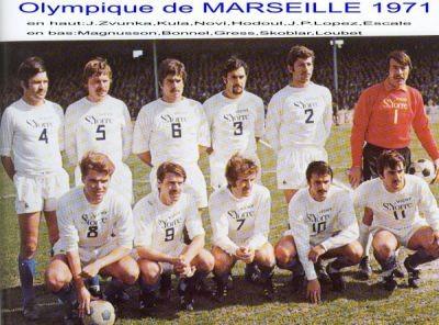 SAISON 70/71  Jean-Louis HODOUL (SC BASTIA) 4 ème debout  Jean-Paul ESCALE (ACA) 6 ème debout