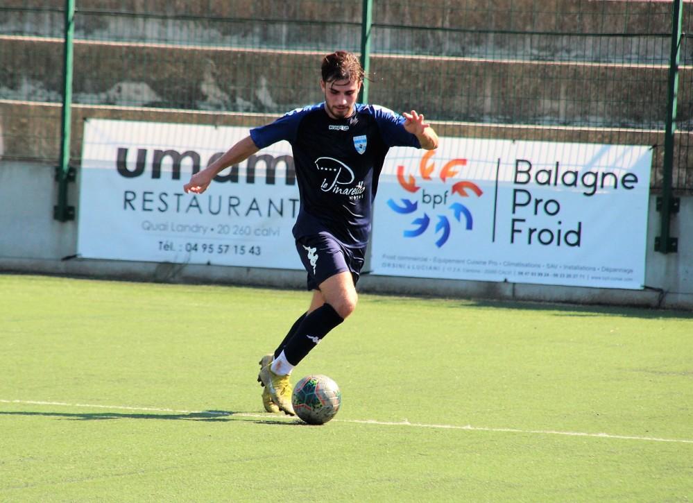 Léo Massot (Sud FC) en Balagne . Photo : X Romieu