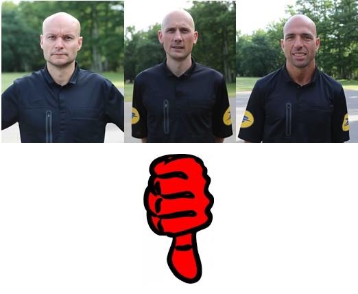 De gauche à droite Tony Chapron, Anthony Gautier et Bartolomeu Varela