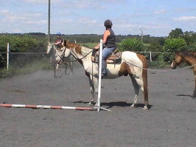 Sonia et Mouss au départ du trail avec le portail