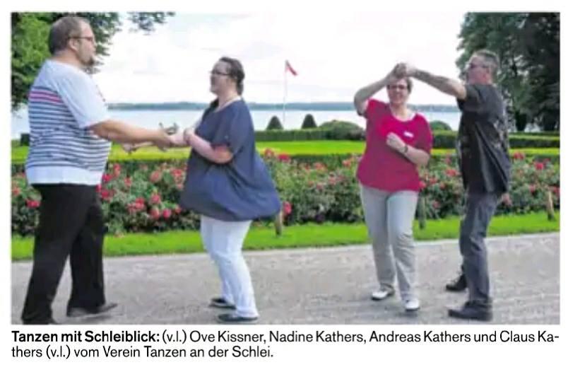 .... wird in Louisenlund bei Schleswig auch ordentlich das Tanzbein geschwungen