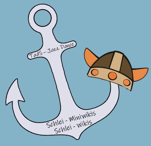 Auch bei den Schlei-Miniwikis und den Schlei-Wikis bildet der Anker das Zentrum des Logos