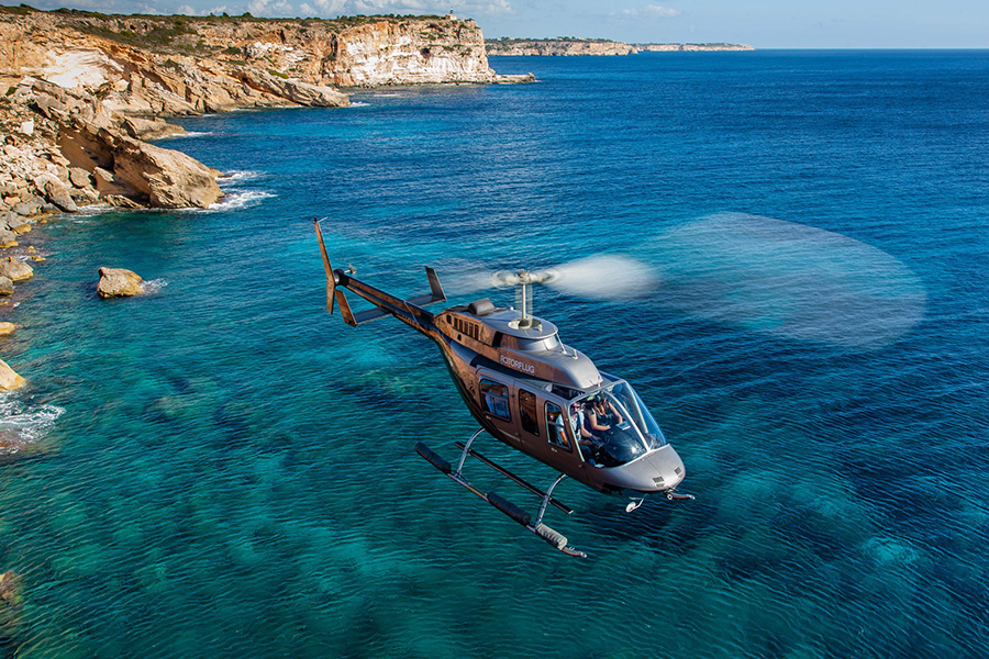 Helicopter flight in Majorca Son Amoixa Vell