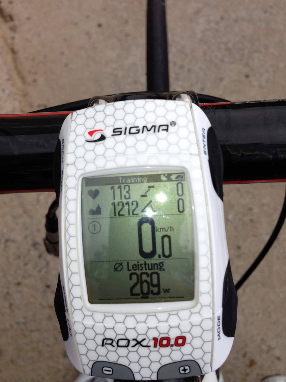 Der neue Sigma Rox 10 GPS nach 3h in den Bergen