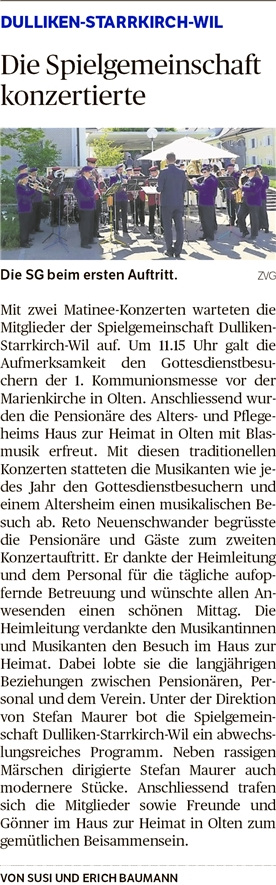 Oltner Tagblatt, 8.5.2018, S. 28
