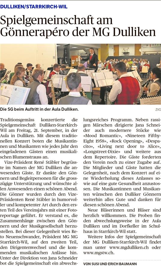 Oltner Tagblatt 2.10.2018, Seite 20