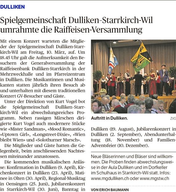 Oltner Tagblatt, 20.3.2017