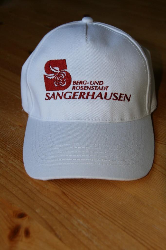 Bild: Kappe bestickt:Berg- und Rosenstadt Sangerhausen