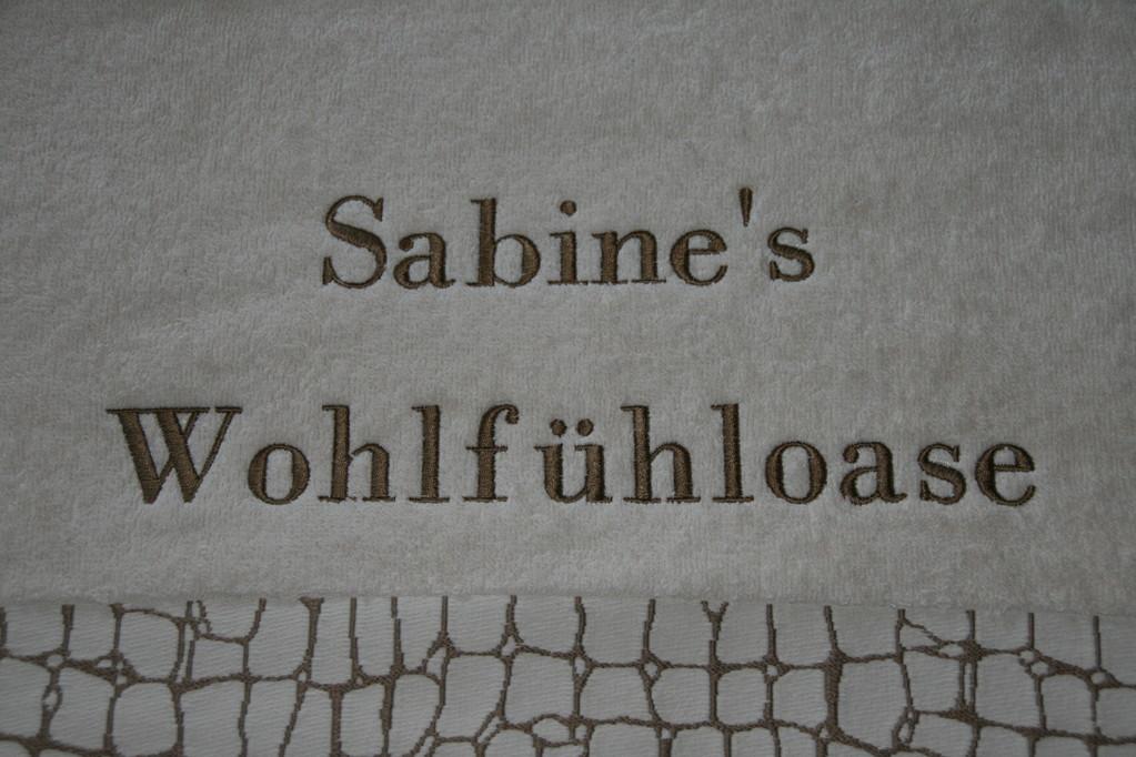 Bild: Schriftzug auf Frottee