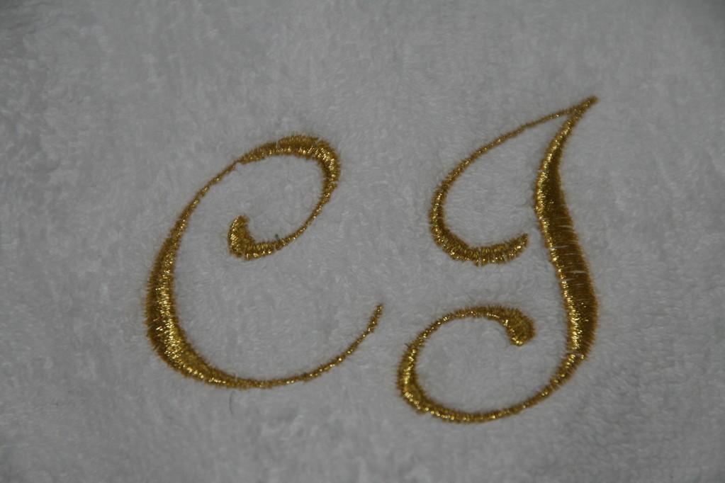 Bild: Monogramm auf Frottee