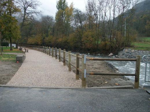 Bassins de rétention à Seilh - soutènement et mur pids en gabions