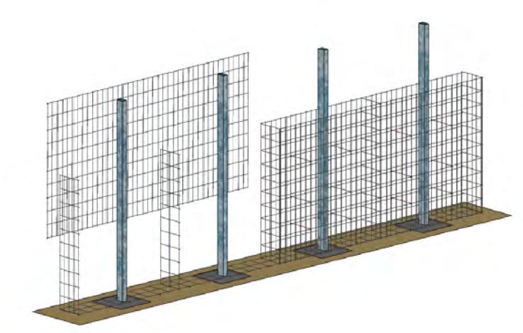 Etape 3 : Ajouter les panneaux des faces avant et arrière aux cloisons latérales déjà en place.