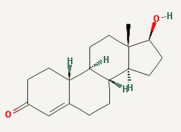 Structure chimique de la nandrolone