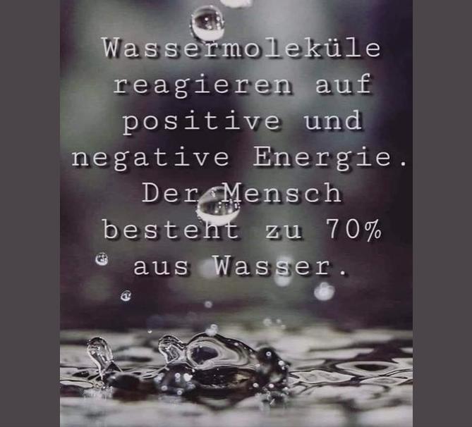 Der Mensch besteht zu 70% aus Wasser