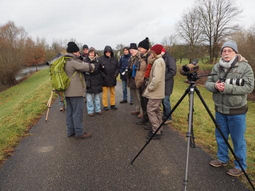 Das Bild zeigt die Beteiligten bei Plittersdorf