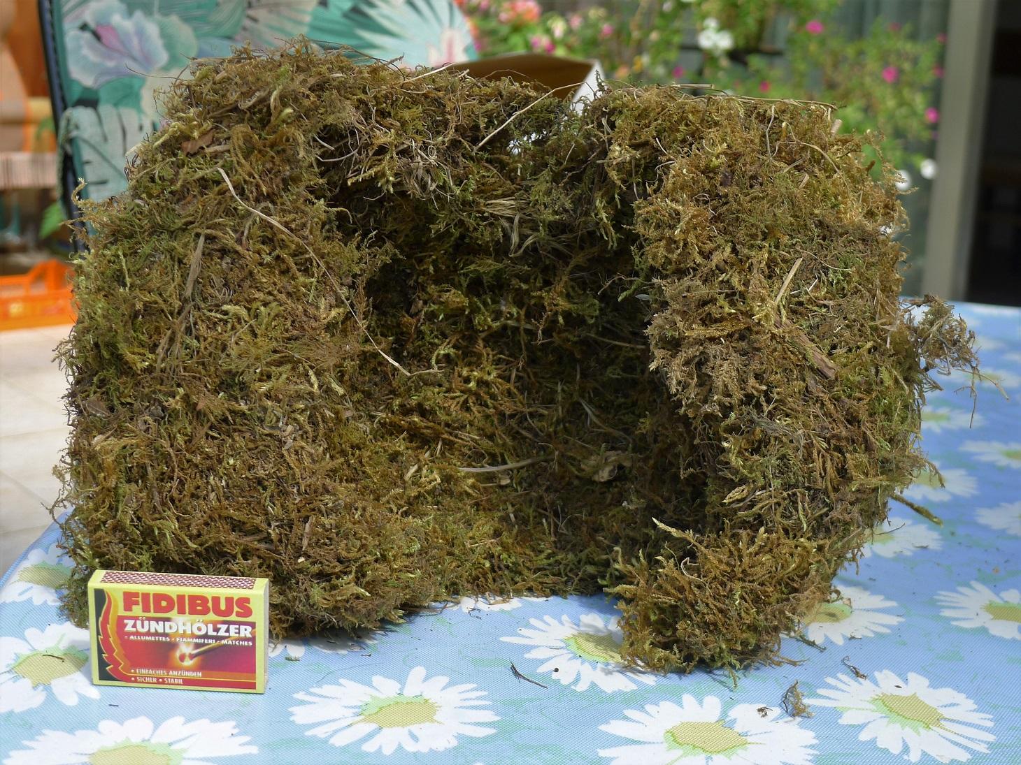 An der Alb nutzt die Wasseramsel fast ausschließlich Nistkästen, die mit einer gewaltigen Menge an Moos ausgepolster werden.