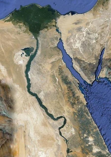 Egipto desde el satélite.