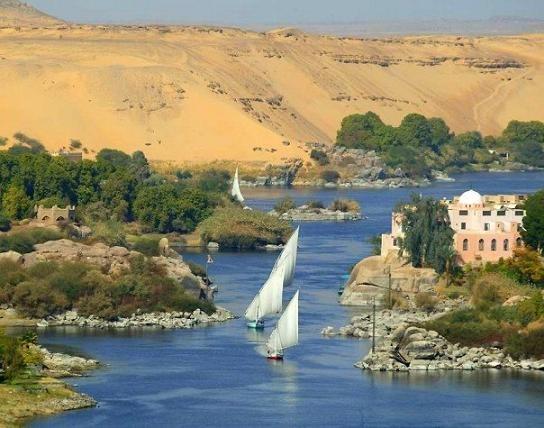 El Nilo a la altura de la primera catarata