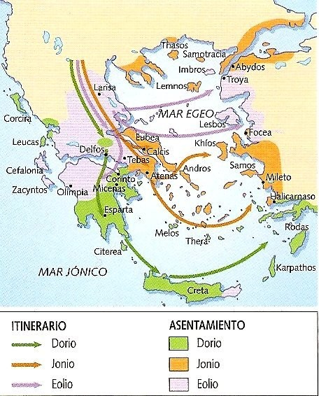 Las invasiones indoeuropeas de finales del II milenio a. C.