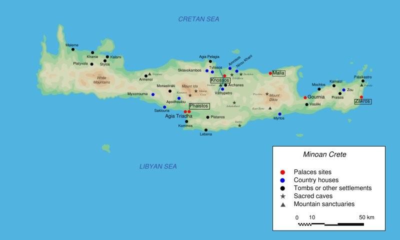 Creta. Yacimientos minoicos