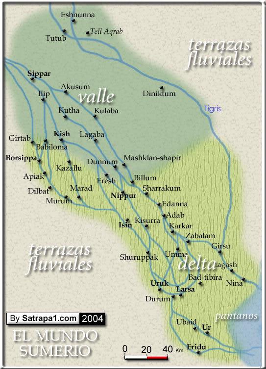 Sumeria, Caldea o Baja Mesopotamia.