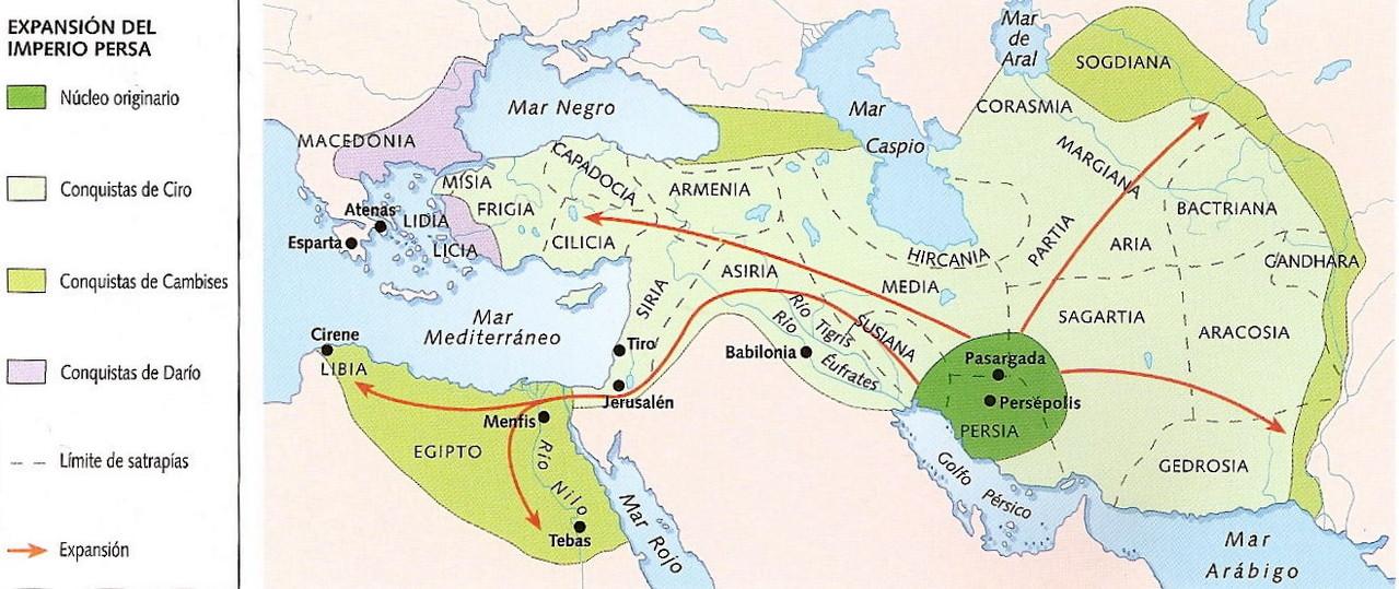 El imperio persa.