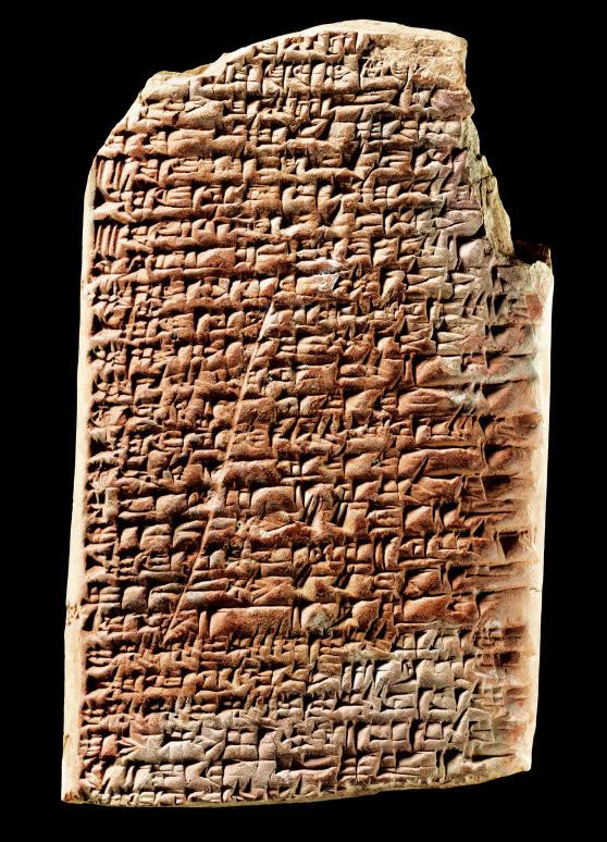 El cuneiforme. Tablilla de barro cocida donde se anotaba todo.