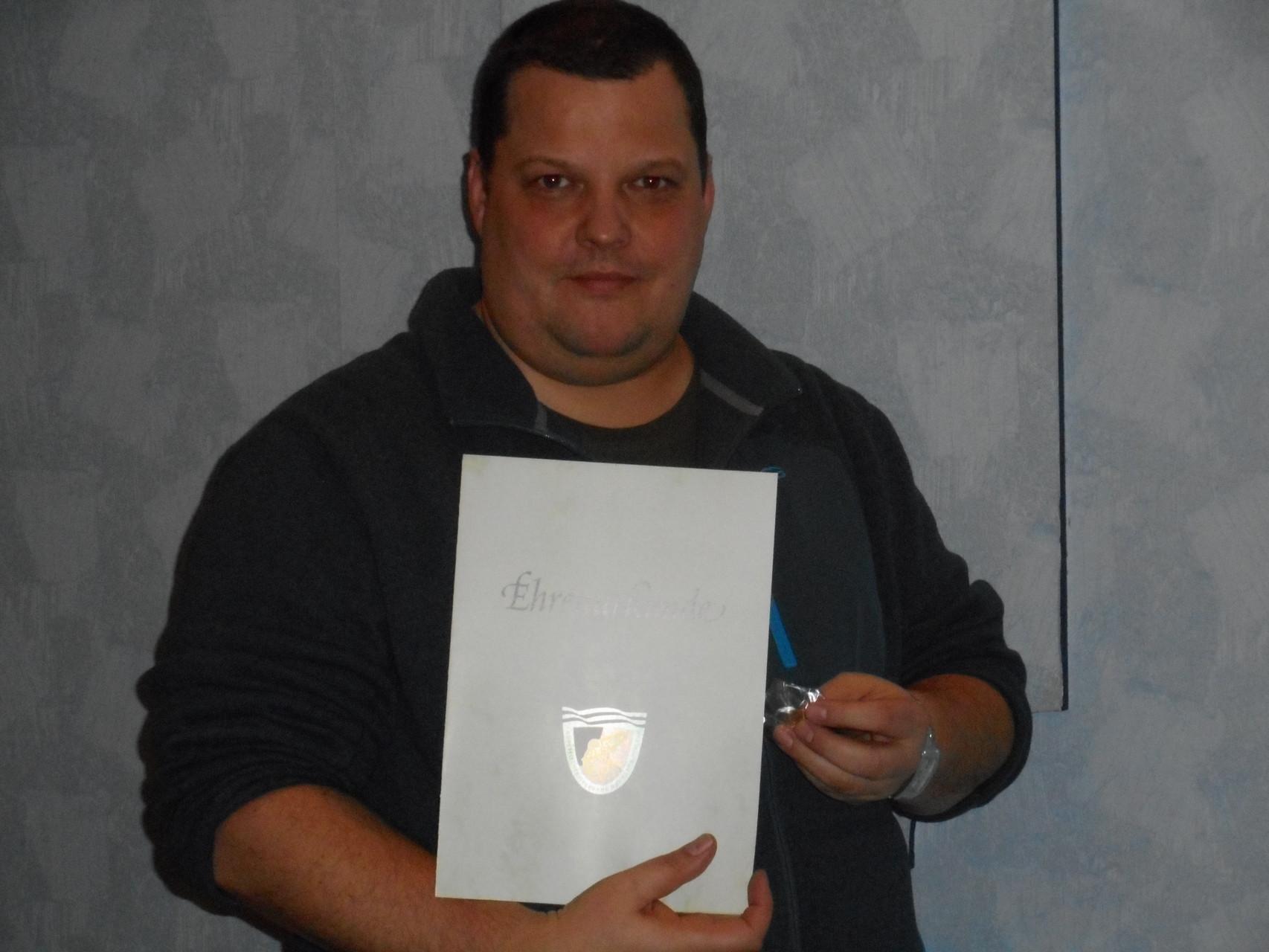 Auszeichnung für Maik Scheuermann