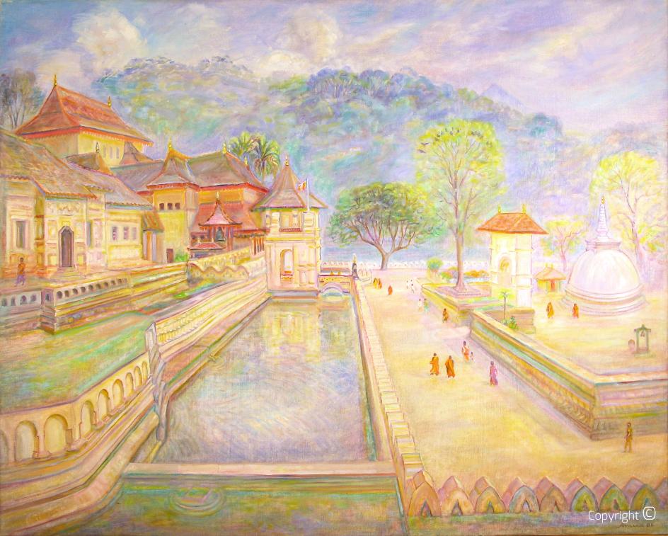 Tempel von Kandy, 1988