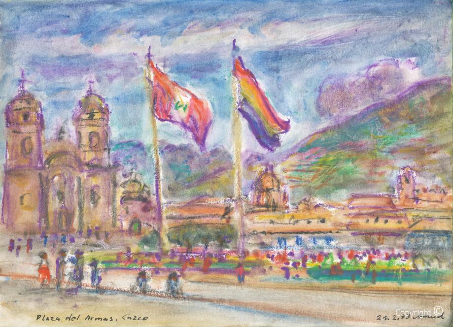 Cuzco, Plaza del Armas, 1993