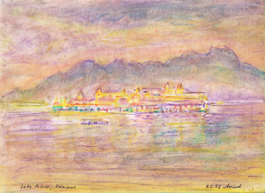 Lake Palace in Udeipur, 1992