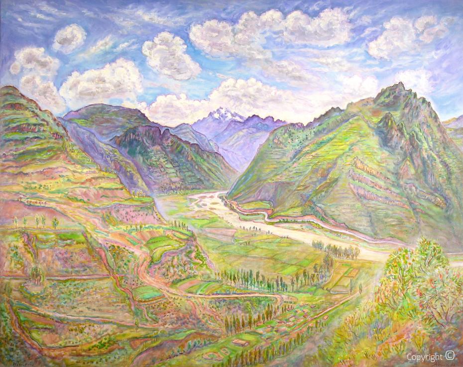 Das Tal von Pisac in Peru, 1993